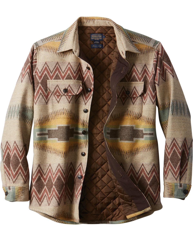 Pendleton Mens Tan Thomas Kay Cpo Quilted Shirt Jacket Sheplers