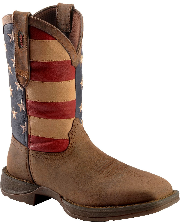 American Flag Cowboy Boots - Steel Toe