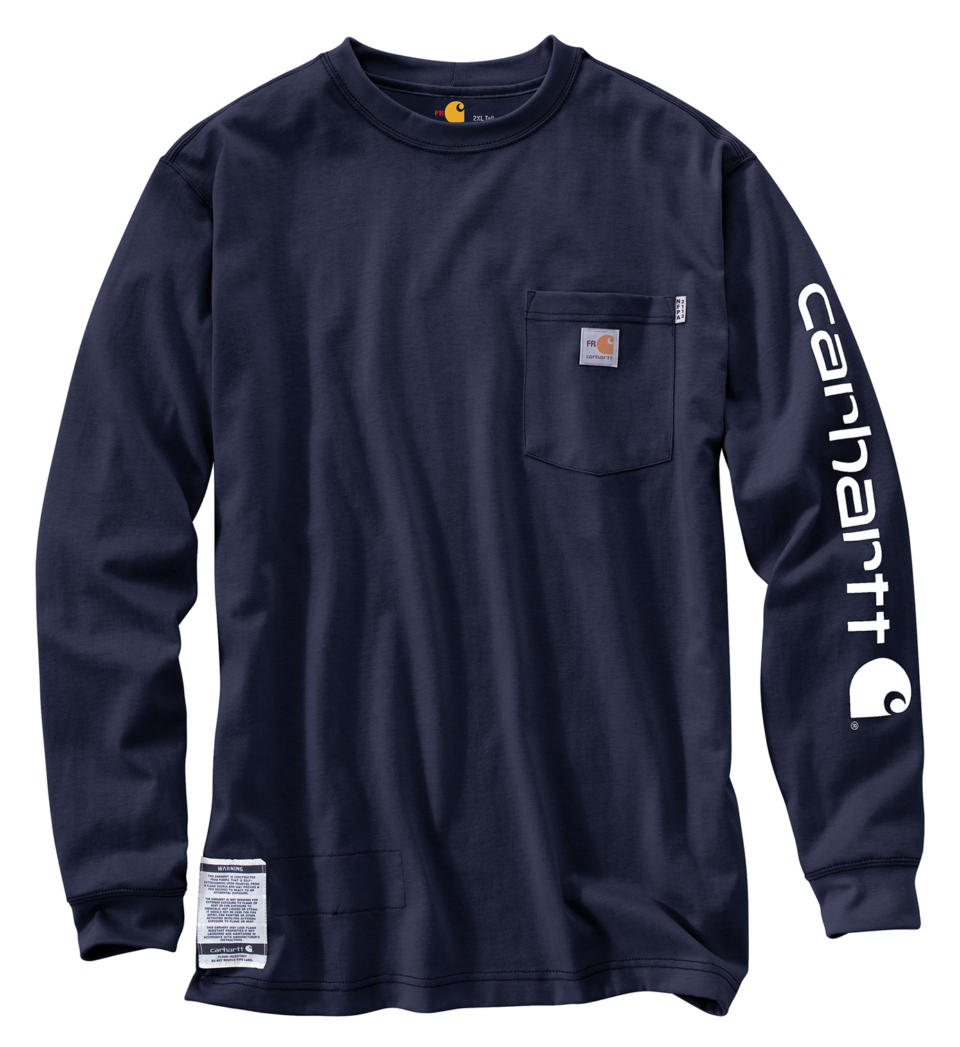 Navy Cotton Flame Resistant Sleeve
