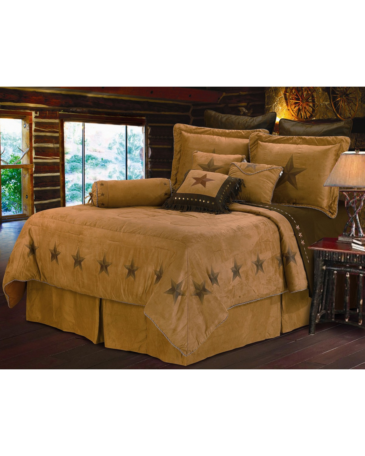 hiend accents luxury star king size bedding set  sheplers