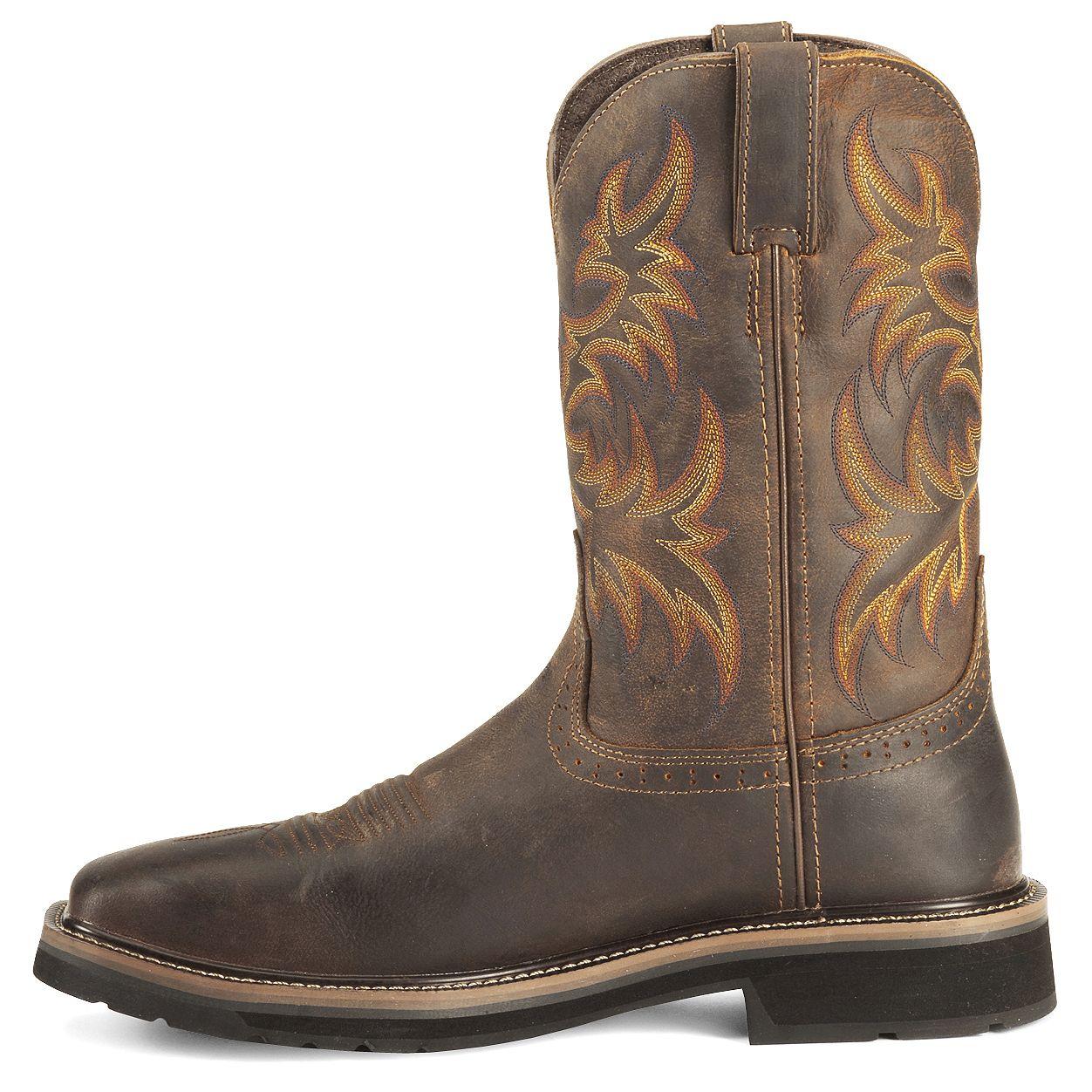 Justin Stampede Tan Waterproof Work Boots Steel Toe