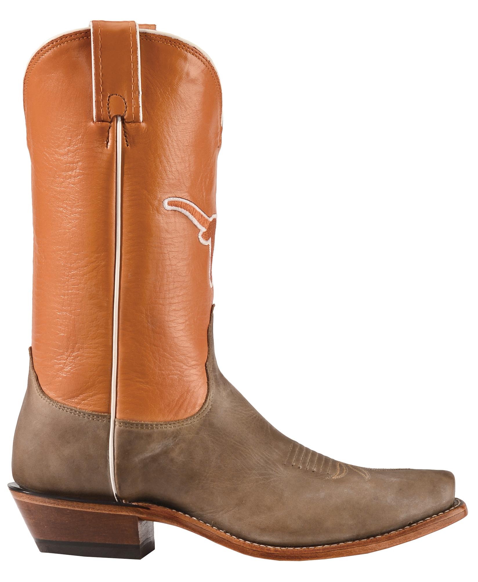Nocona Women\'s Texas Longhorns College Boots - Snip Toe | Sheplers