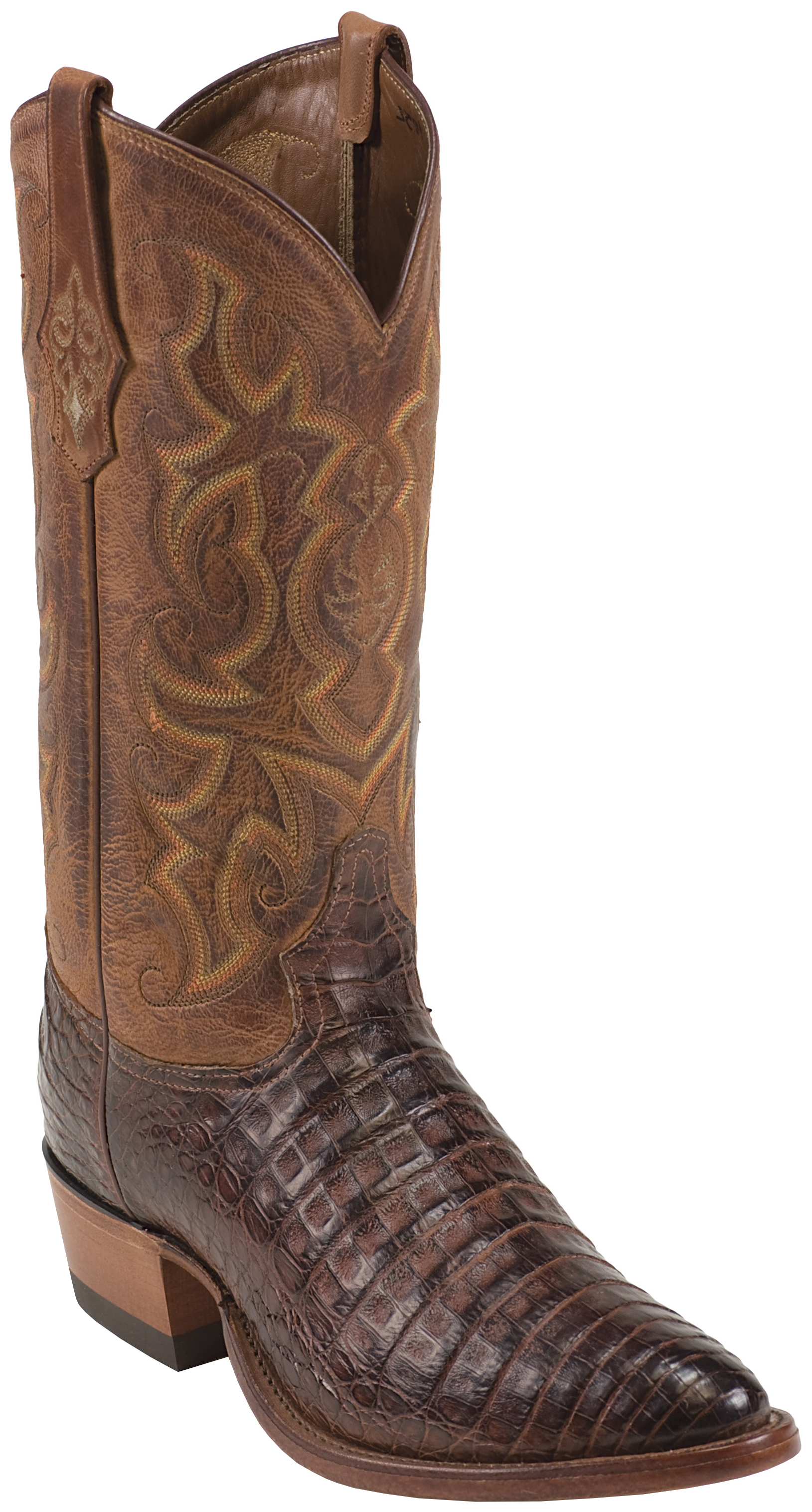 Tony Lama Men S Arlow Cognac Vintage Belly Caiman Cowboy