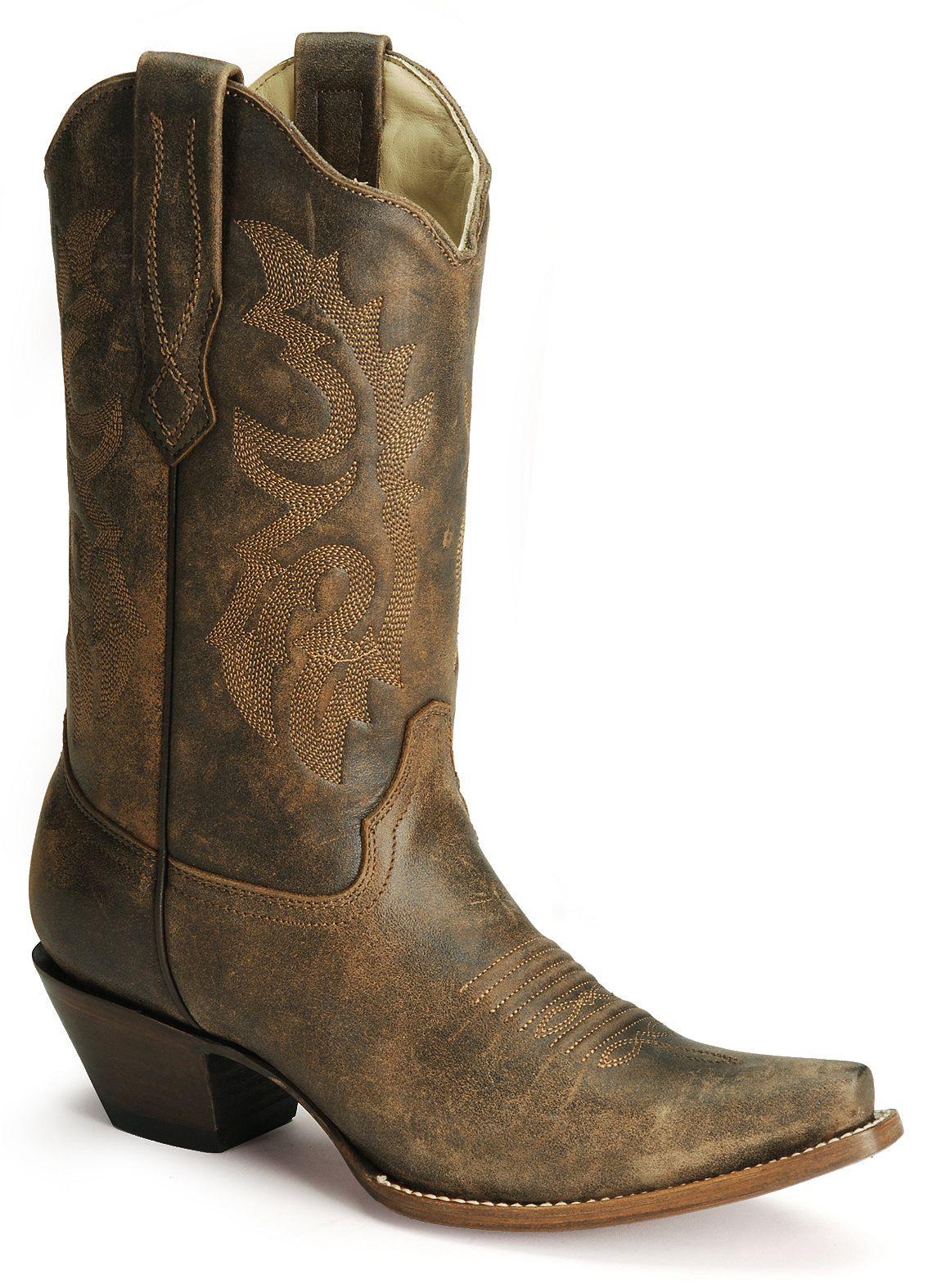 Corral Distressed Leather Western Cowgirl Boots Snip Toe