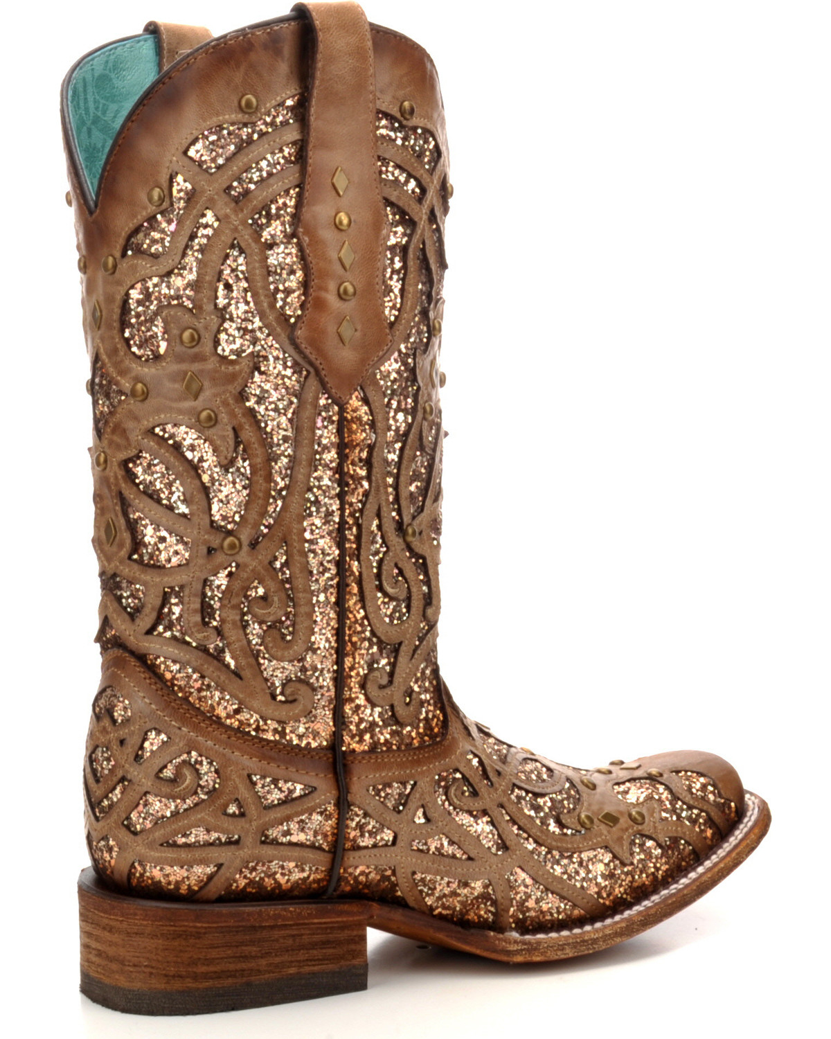 8dc1d1882bf Corral Women s Orix Glitter Inlay   Studded Cowgirl Boots - Square ...