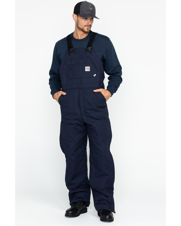291357b19b7f Carhartt Men s Flame-Resistant Duck Quilt-Lined Bib Overalls