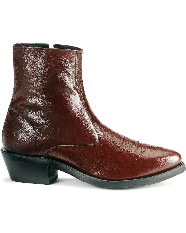 Old West Zipper Western Ankle Boots Sheplers