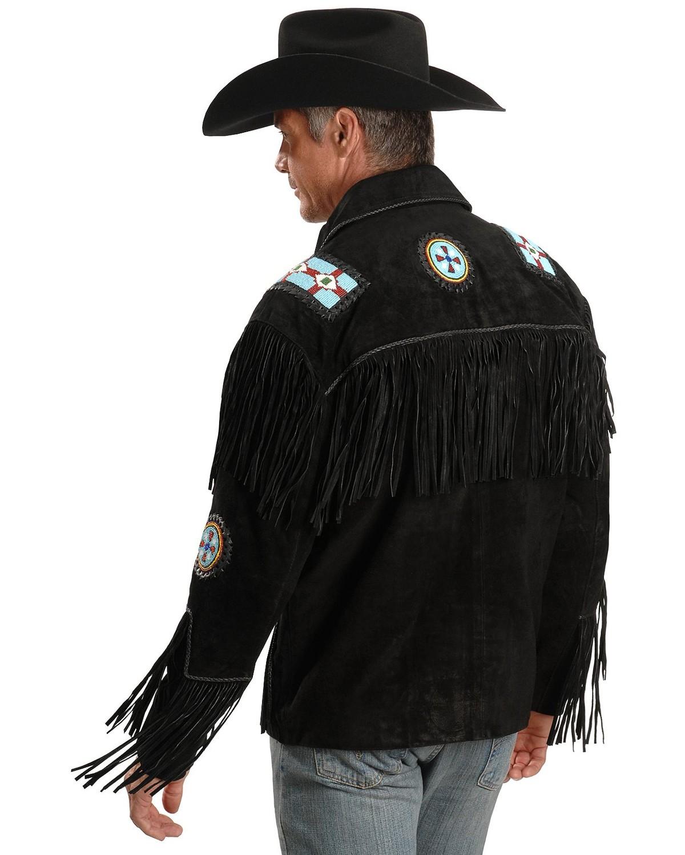 Liberty Wear Eagle Bead Fringed Suede Leather Jacket | Sheplers