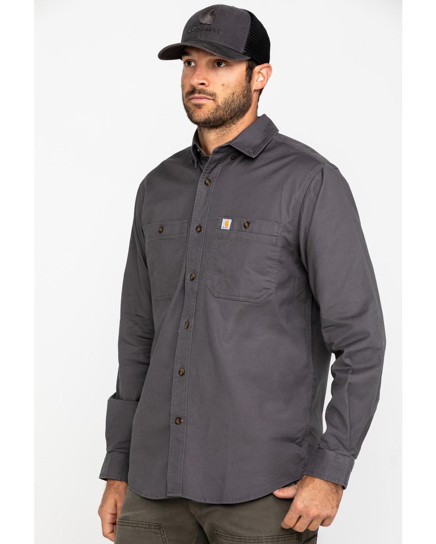 4x Details about  /Carhartt 103321 Rugged Flex Rigby Long Sleeve Work Shirt Black 2x 3x