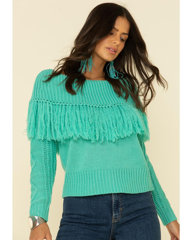 I-N-C Womens Tassle-Trim Off The Shoulder Blouse