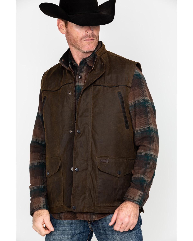 Outback Trading Co Magnum Fleece Lined Oilskin Vest