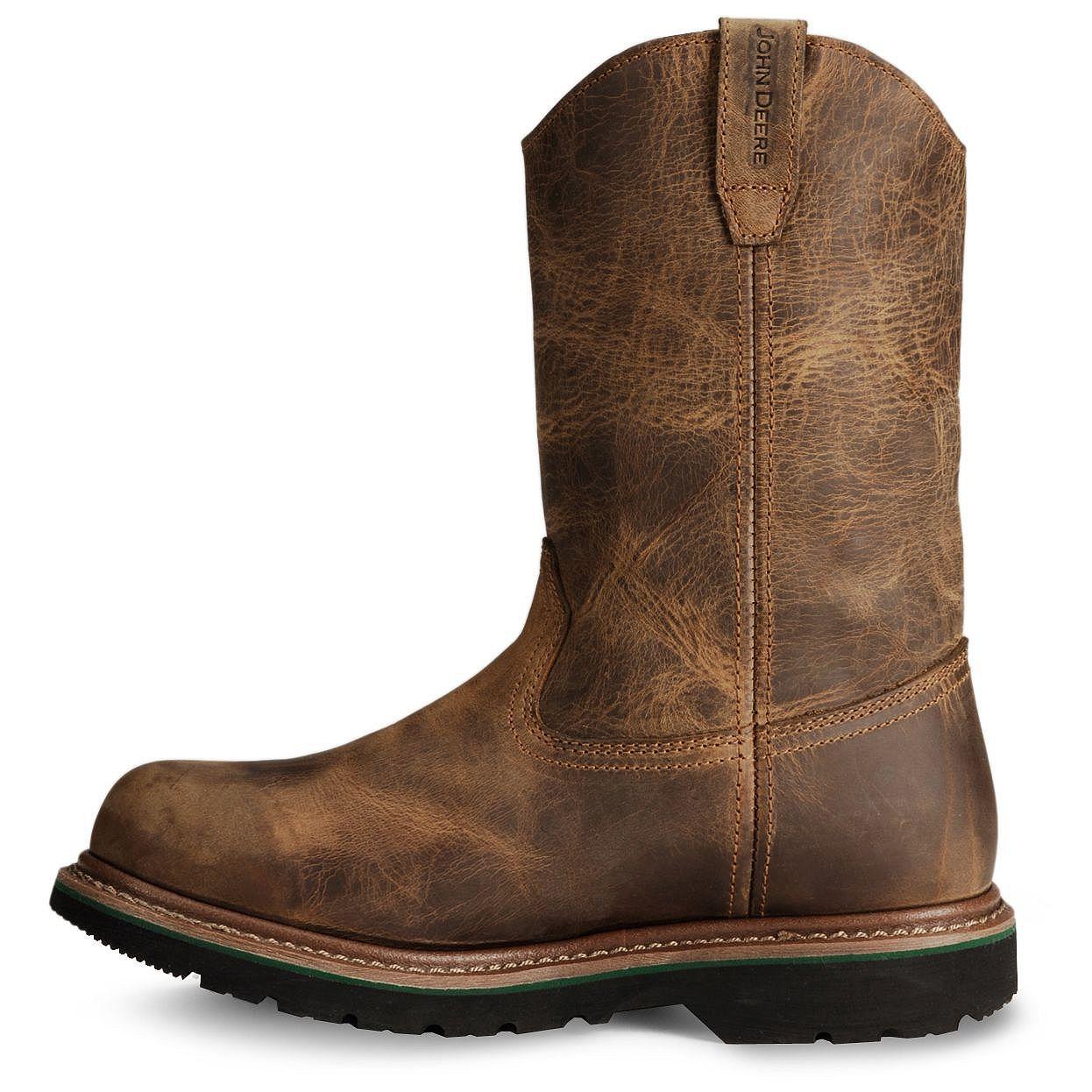 John Deere Men's Waterproof ... Steel-Toe Western Work Boots S9ywiKD