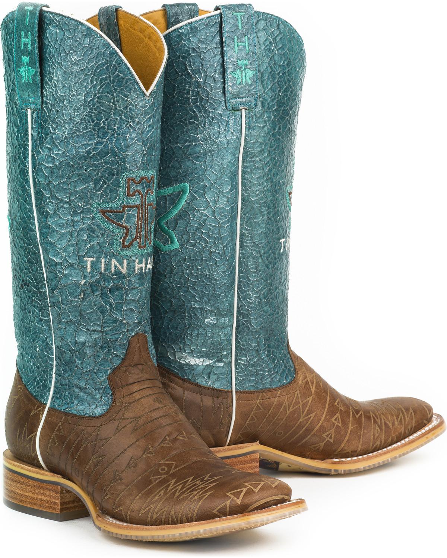 Tin Haul Women\'s Aztec Print Native Cowgirl Boots - Square Toe ...