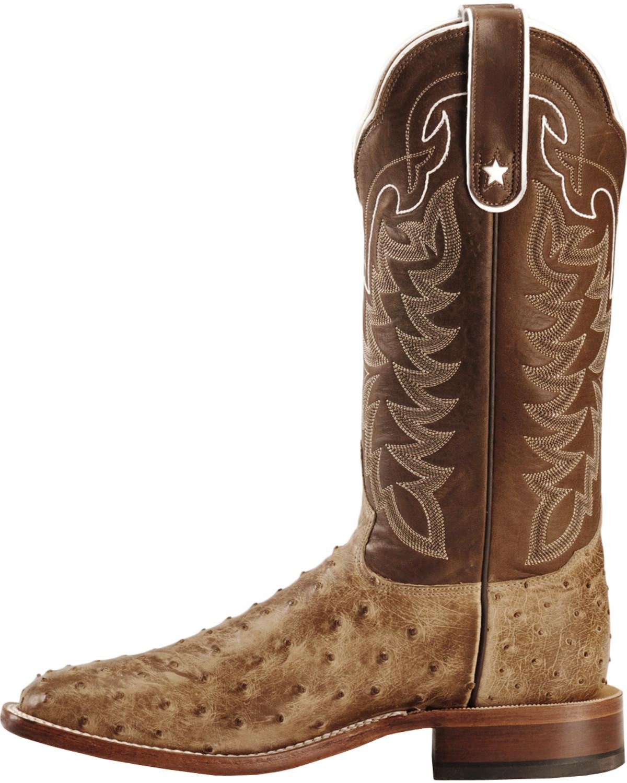 Tony Lama Men S Full Quill Ostrich Boot Square Toe