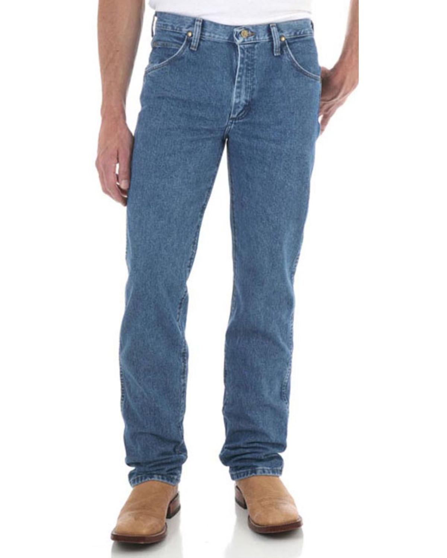 Wrangler Men S Dark Stone Premium Performance Cowboy Cut 174 Slim Fit Jeans Straight Leg Sheplers