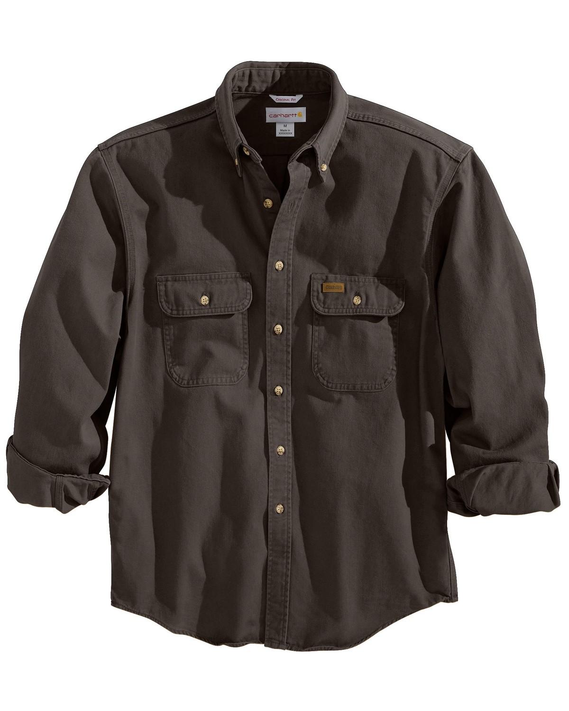 Carhartt sandstone twill work shirt big tall sheplers for Carhartt work shirts tall