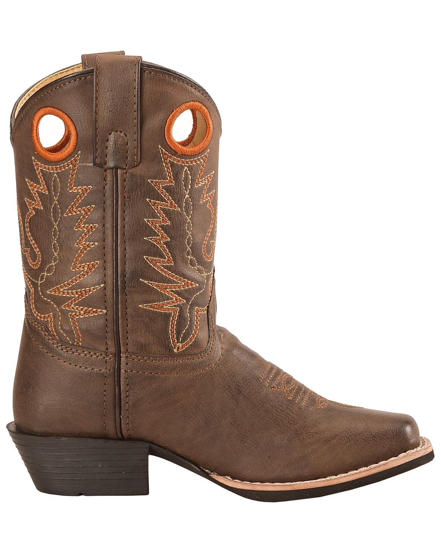Swift Creek Boys Brown Cowboy Boots Square Toe Sheplers