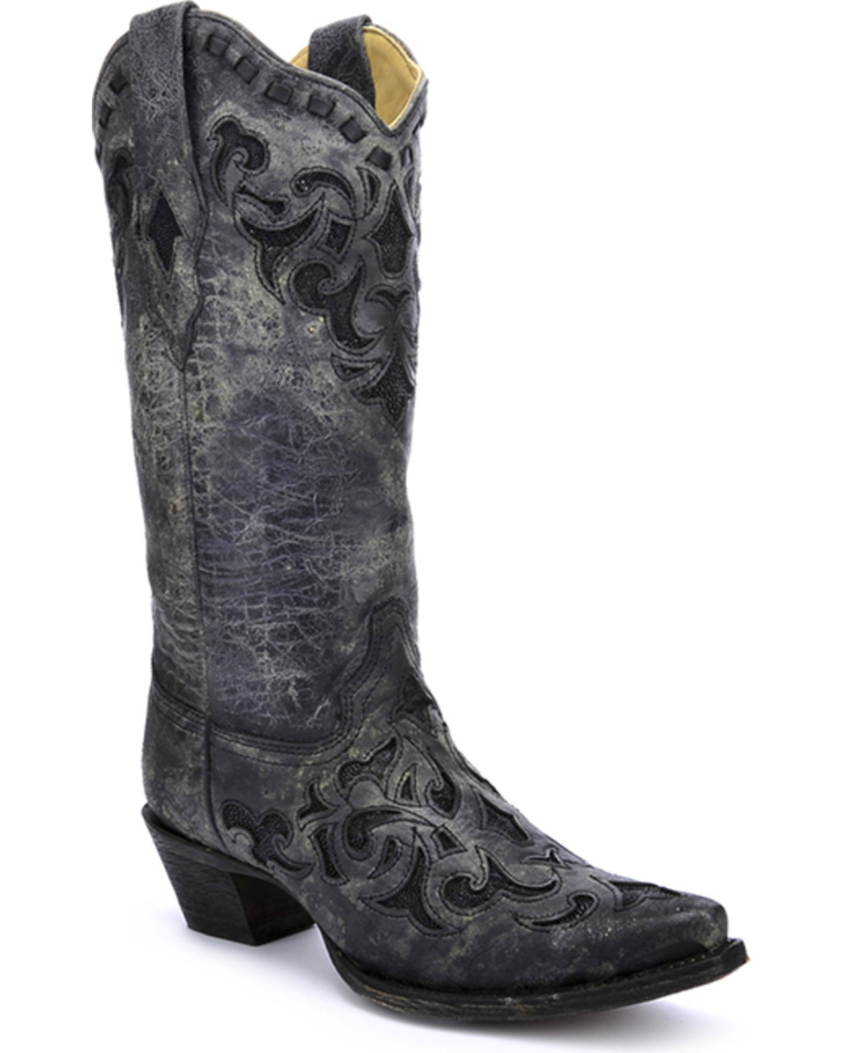 Corral Women S Stingray Inlay Cowgirl Boots Snip Toe