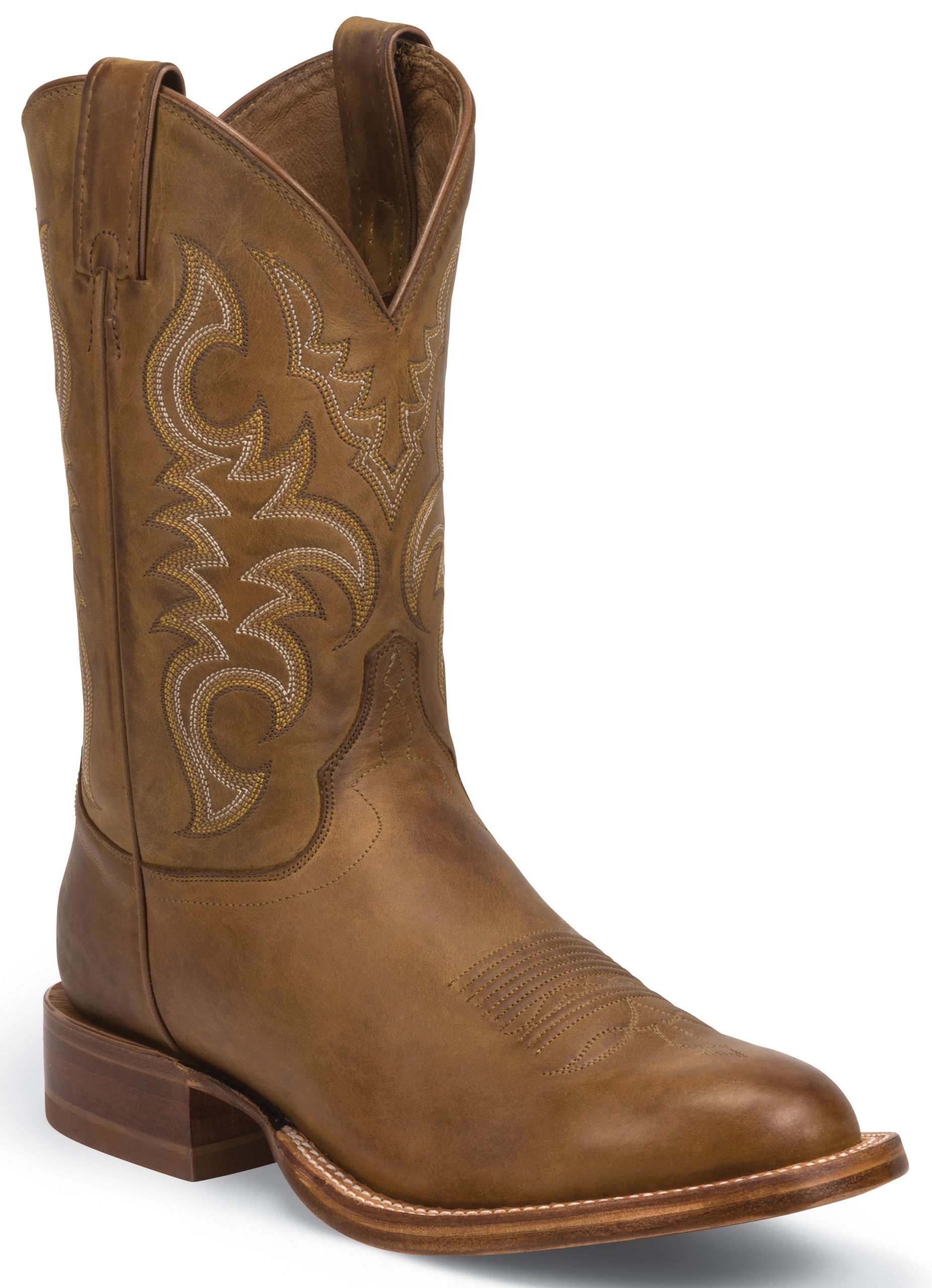 Justin Golden Brown Stampede Cpx Cowboy Boots Round Toe