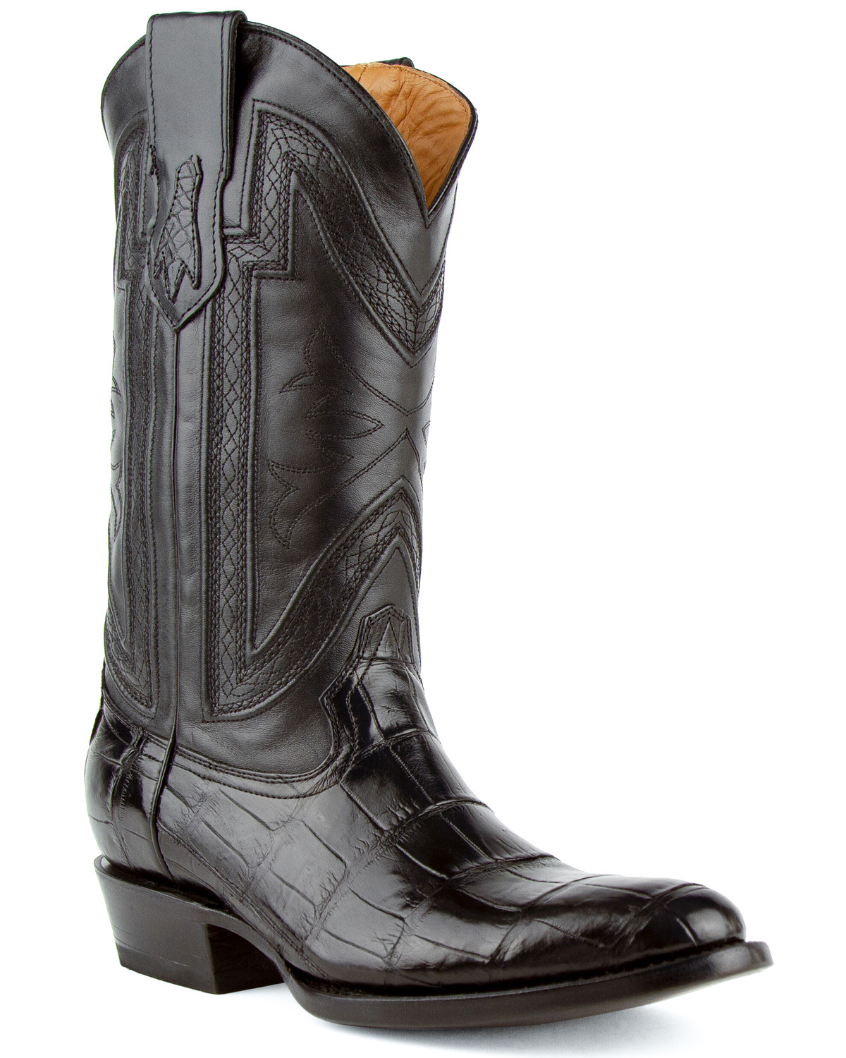 Ferrini Alligator Belly Exotic Cowboy Boots Medium Toe