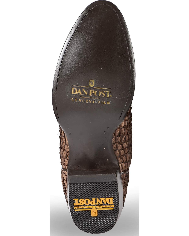 Dan Post Men's Chocolate Sea Bass Cowboy Boots - Round Toe, Chocolate, hi-