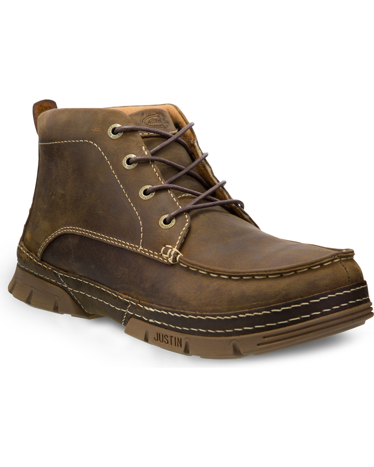Justin Men S Tobar Brown 5 Quot Lace Up Work Boots Steel Toe