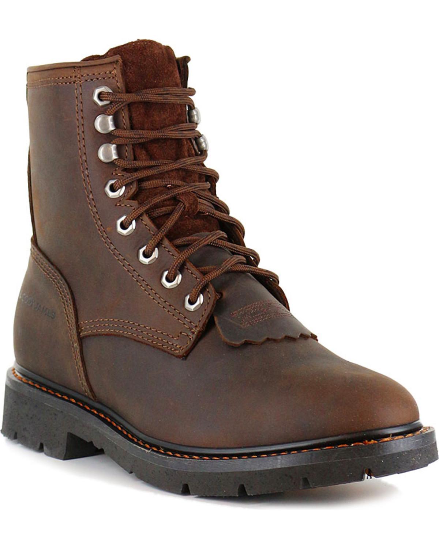 Cody James Men S 8 Quot Lace Up Kiltie Work Boots Soft Toe