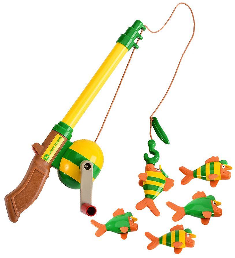 John deere electronic sounds fishing rod toy set sheplers for Fishing toy set