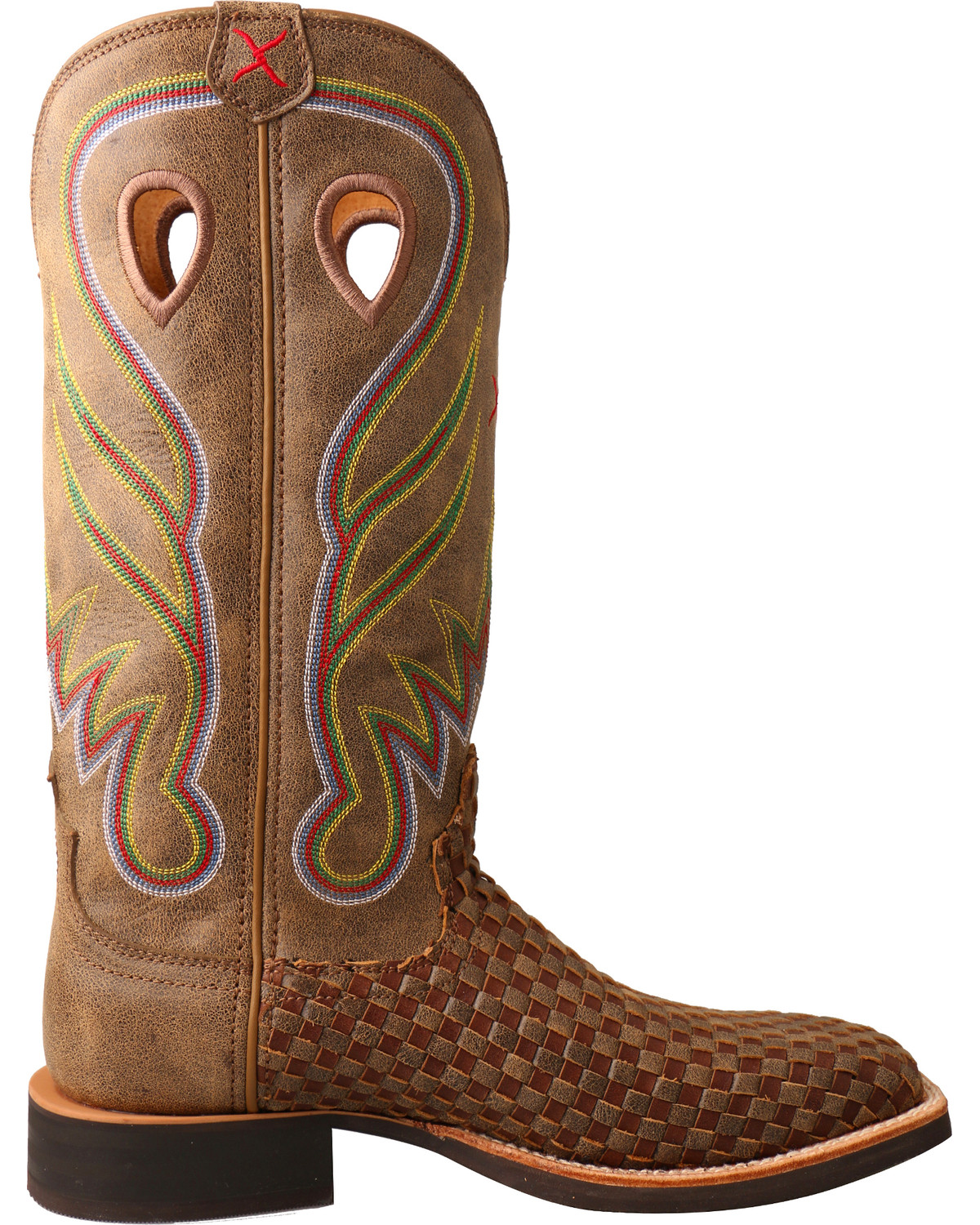 Twisted X Women S Ruff Stock Basketweave Cowgirl Boots