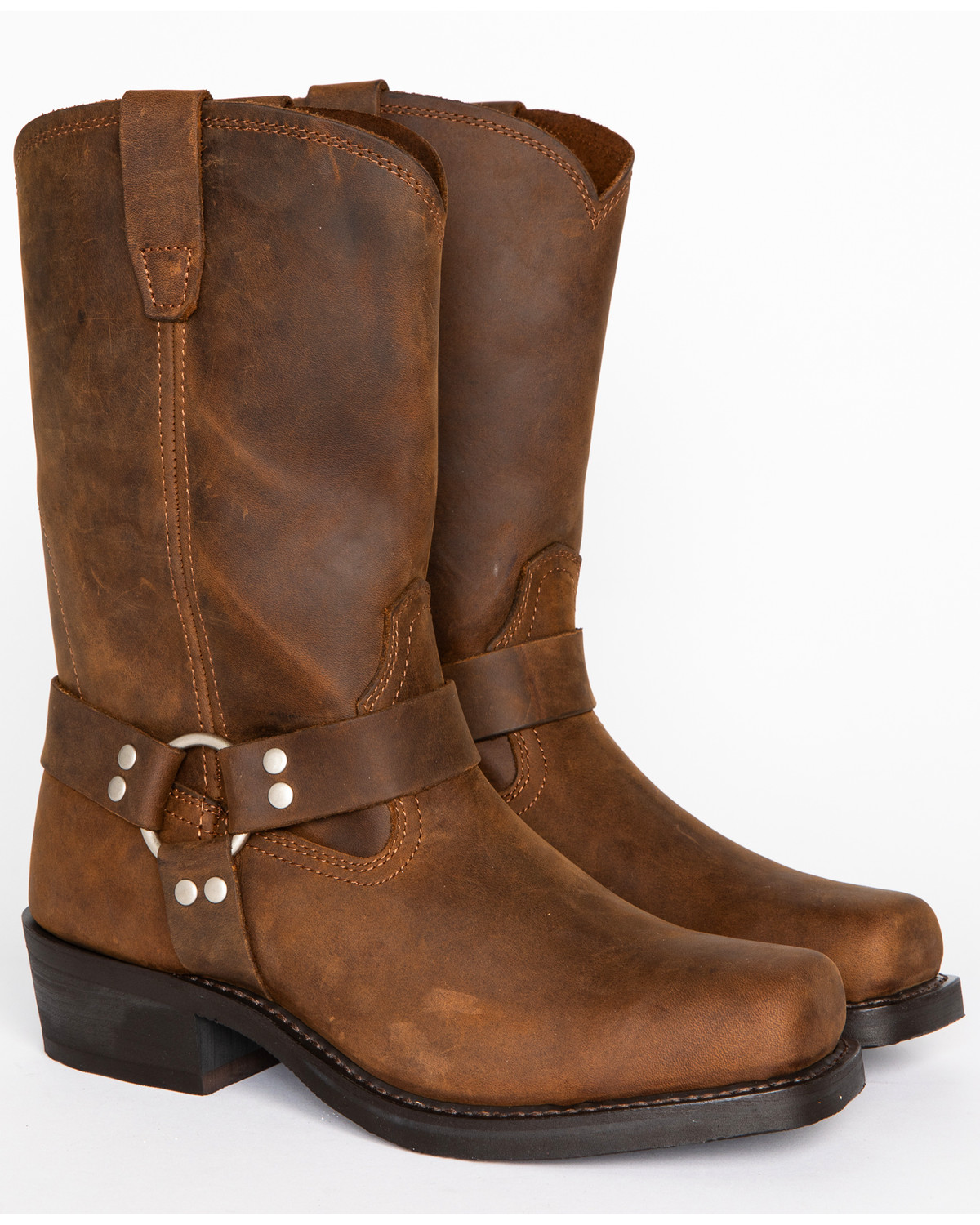 Cody James Men S Brown Harness Boots Square Toe Sheplers