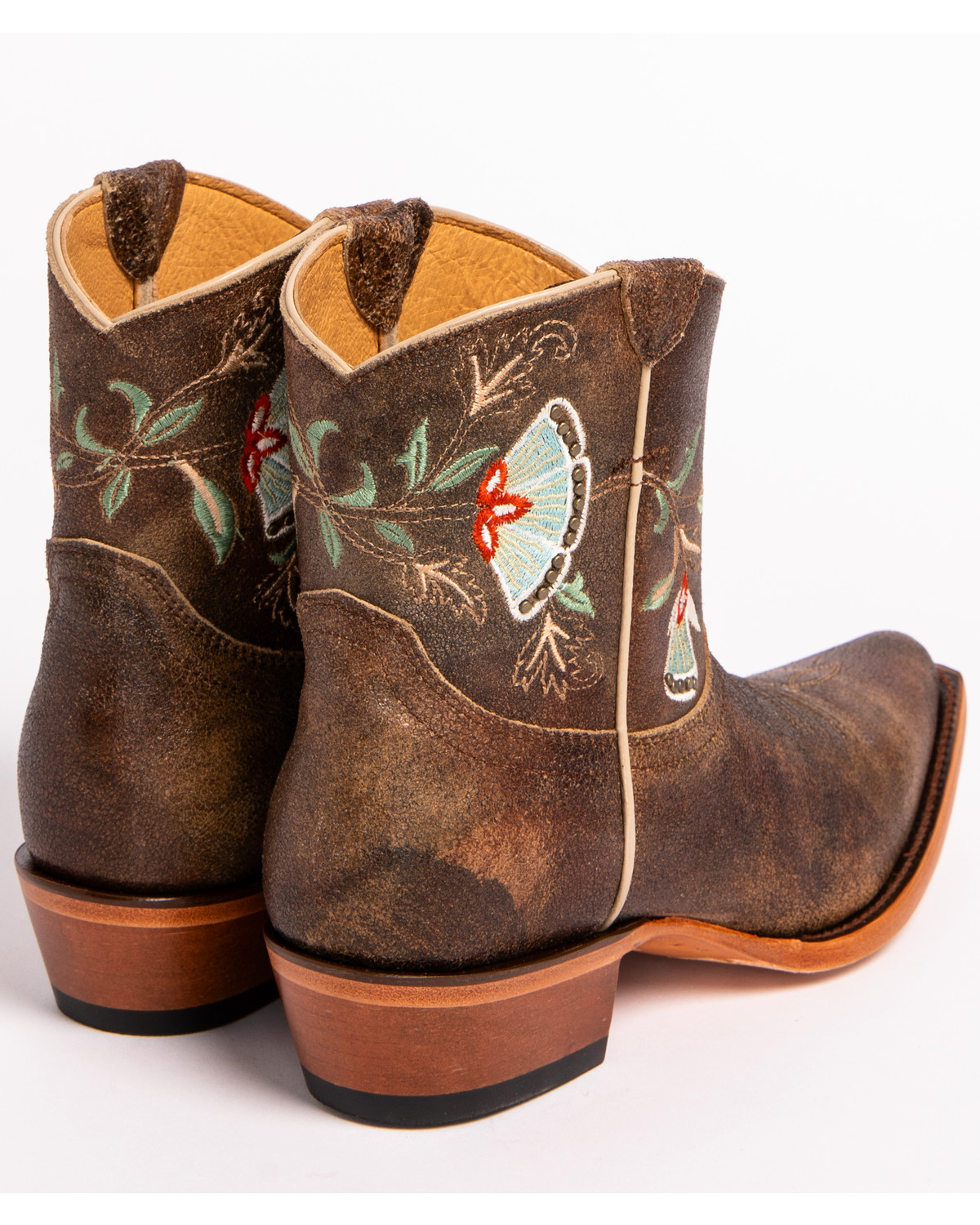 Corral Women's Bone White Floral Embroidery & Crystal Western Boots A3521