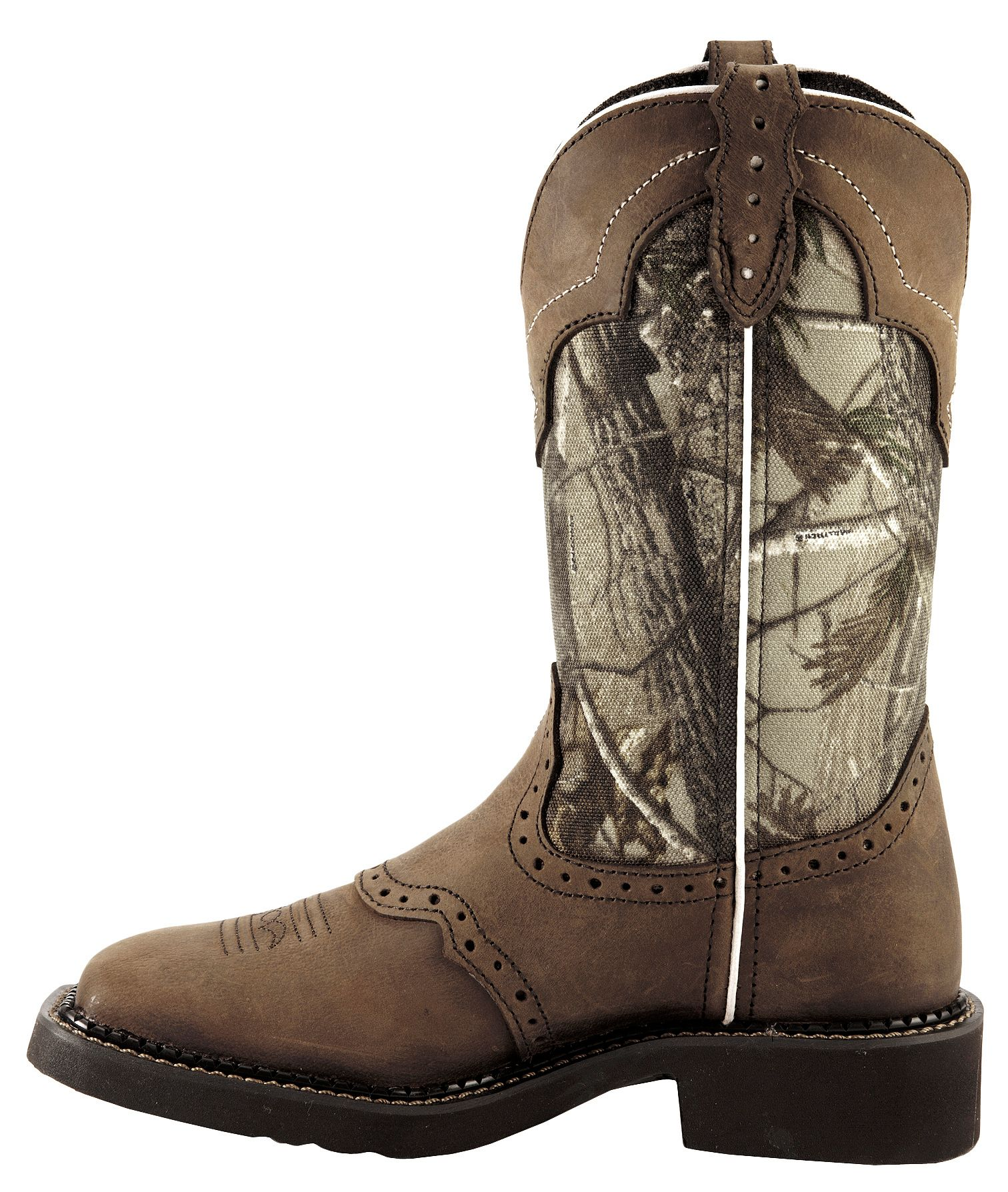 Justin Gypsy Real Tree Camo Cowgirl Boots Square Toe