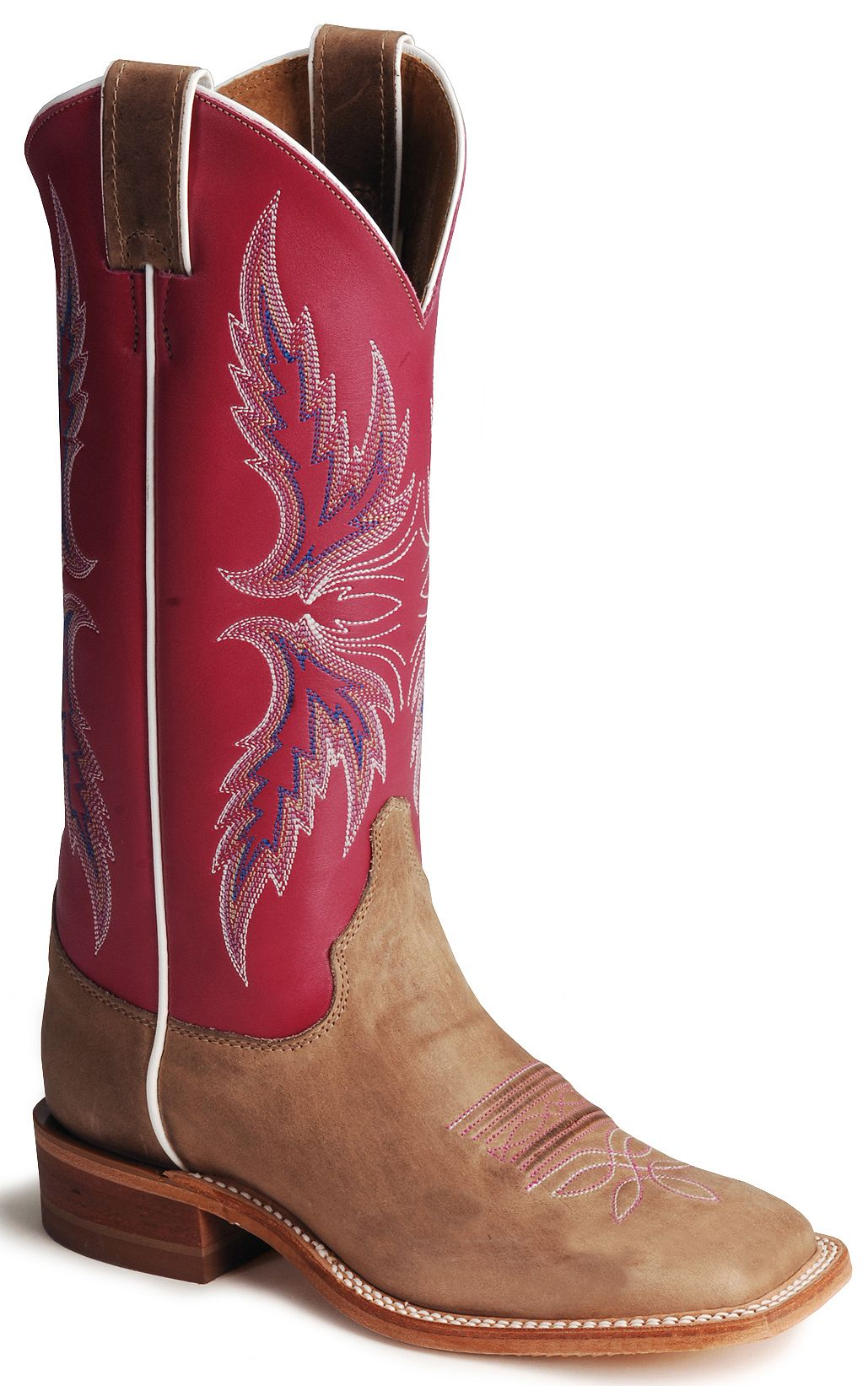 Albany Pink Cowgirl Boots - Square Toe