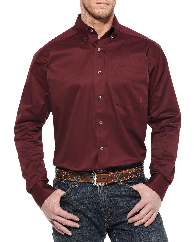 Ariat Burgundy Twill Cowboy Shirt Big Amp Tall Sheplers