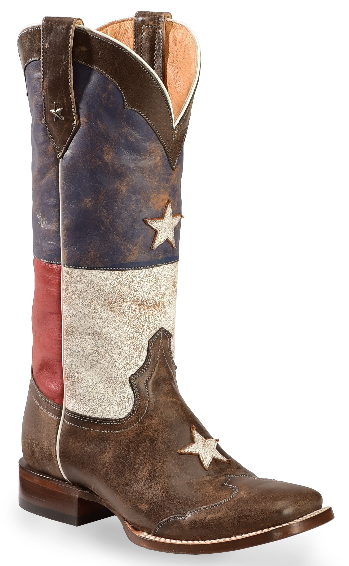 Roper Distressed Texas Flag Cowgirl Boots Square Toe