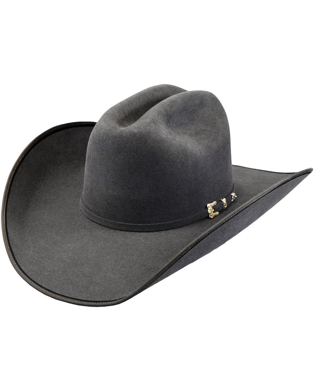 6552ded7cdf42 ... Wrangler Felt Cowboy Hats  Justin Bent Rail Men s Granite 7X Hooked 2 Cowboy  Hat