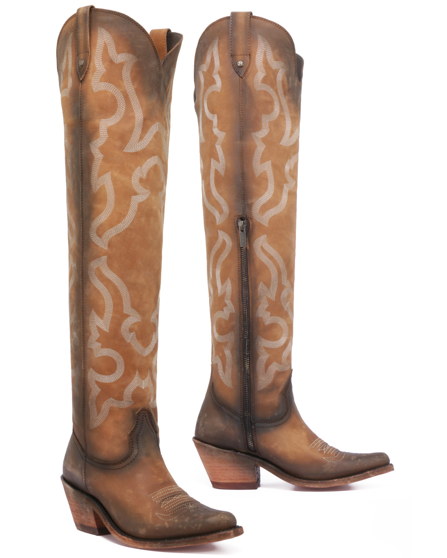 Vegas Faggio Tall Boots - Round Toe
