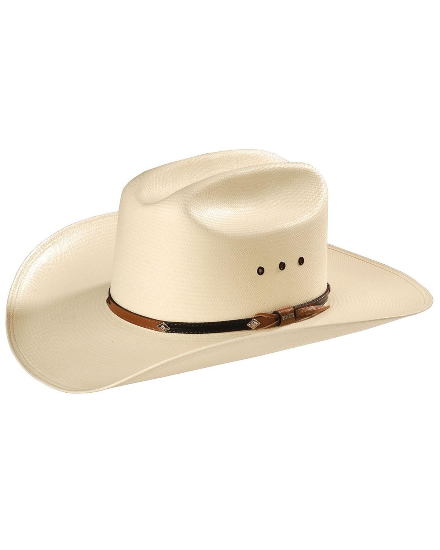 37dbf4f7d32 Stetson 10X Grant Straw Cowboy Hat