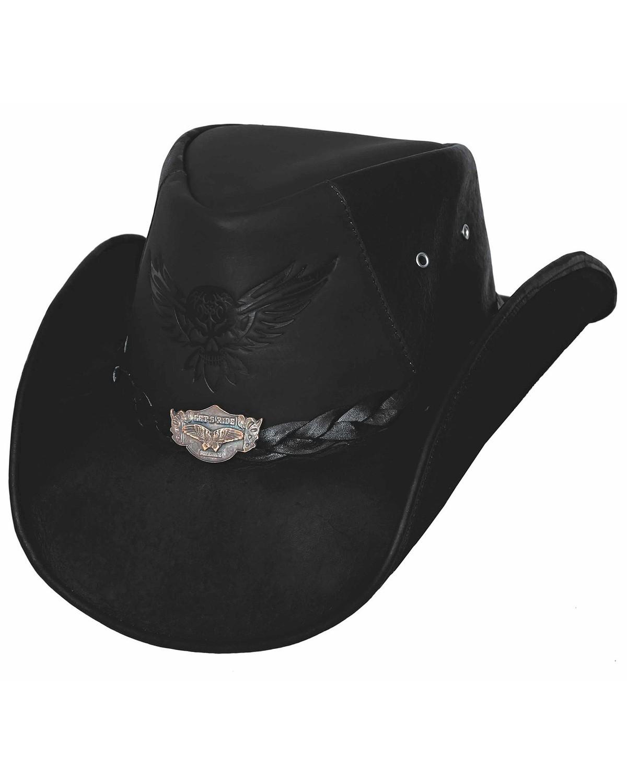 Bullhide Men S King Of The Road Top Grain Leather Hat