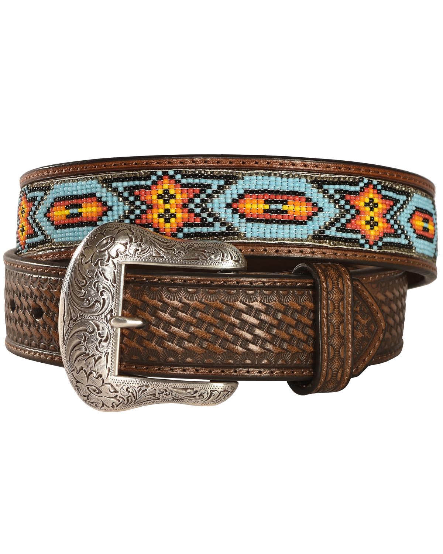 Nocona Mens Beaded Belt