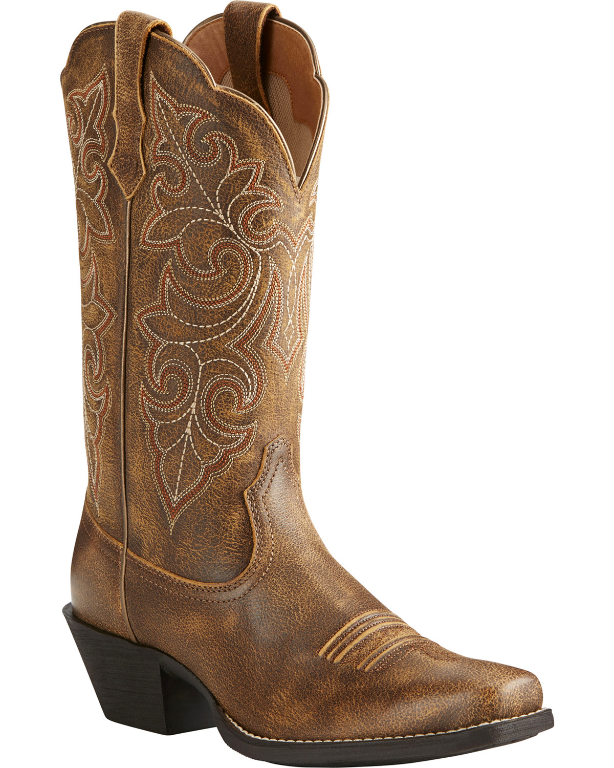 Ariat Women S Round Up Distressed Leather Cowgirl Boots
