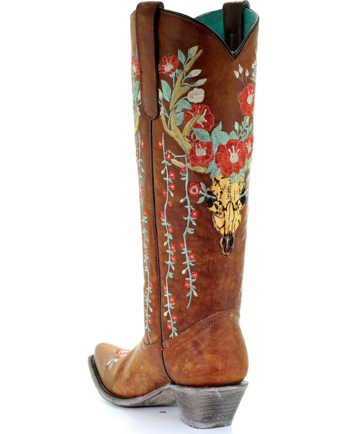 Shyanne® Women's Floral Embroidered Western Boots , Brown, ...