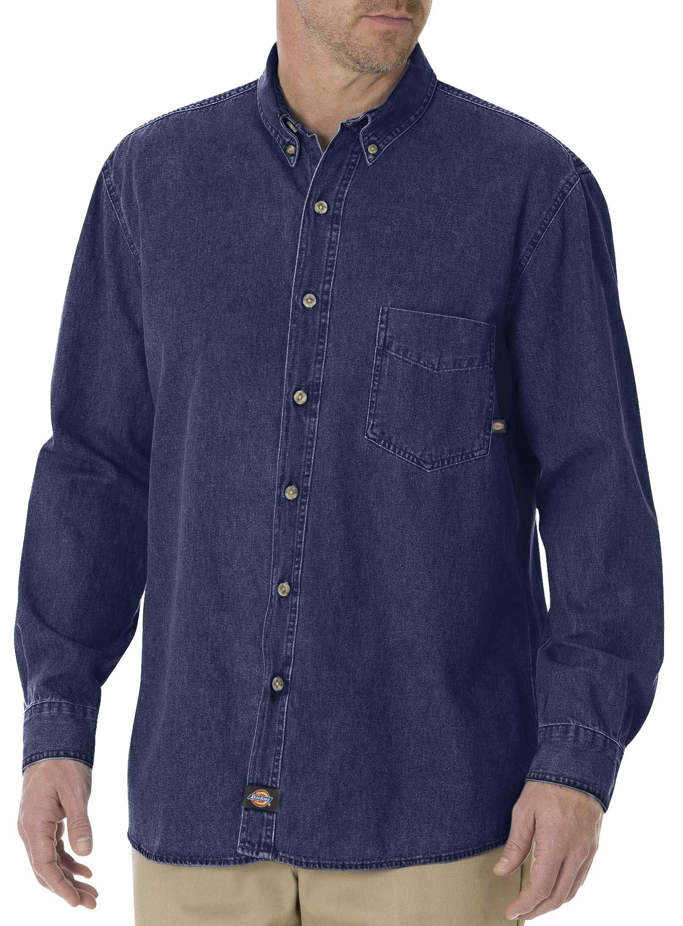 Dickies denim work shirt big tall sheplers for Dickies big tex shirt