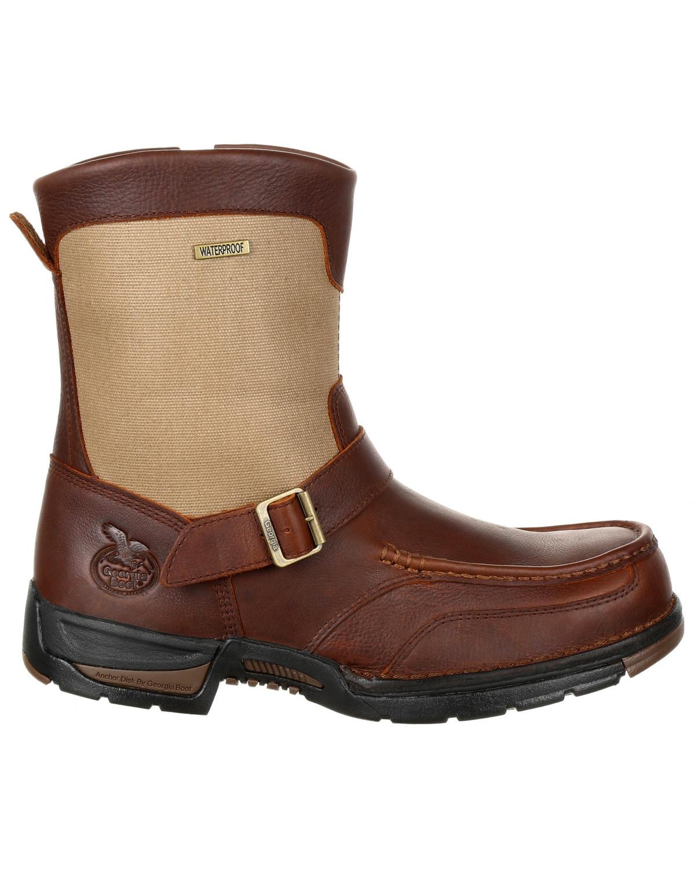 Georgia Boot Men S Athens Waterproof Side Zip Work Boots