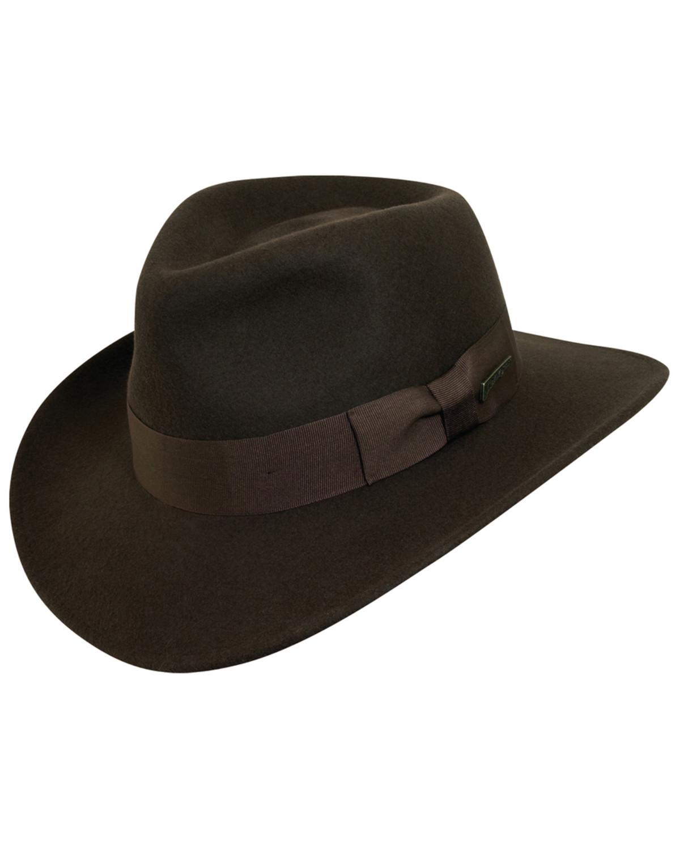 ... amazon indiana jones crushable wool fedora hat chocolate hi res b4d0a  c185d 985a6f4c0f3