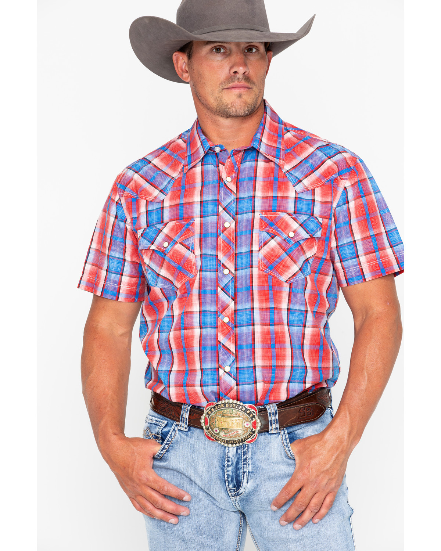 Rock \u0026 Roll Cowboy Men's Crinkle Poplin