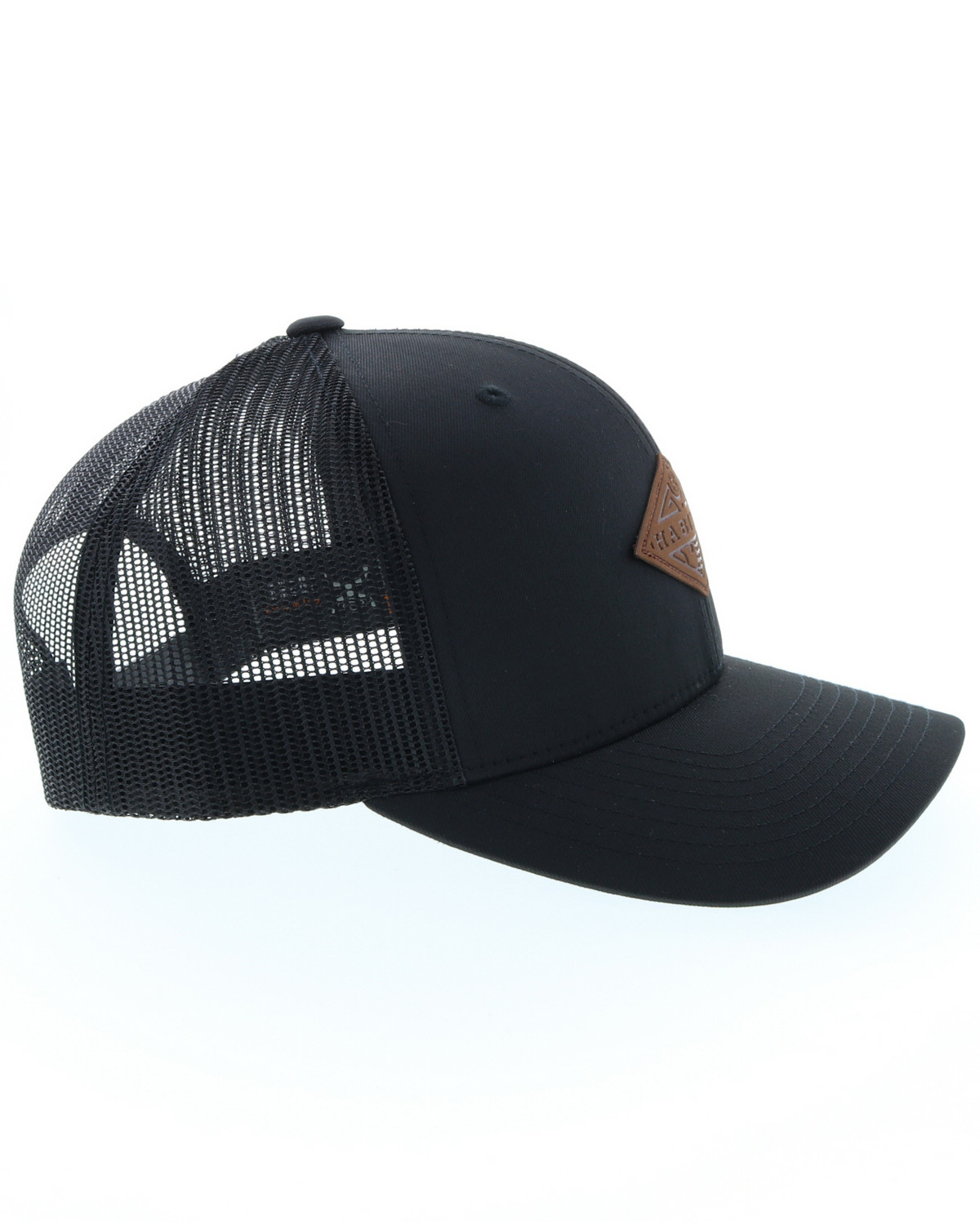 4a799936d56 HOOey Men s Graphite Habitat Leather Patch Ball Cap