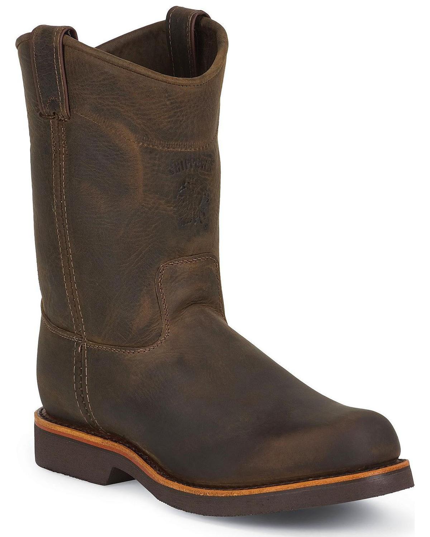 Chippewa Pull On Work Boots Round Toe Sheplers
