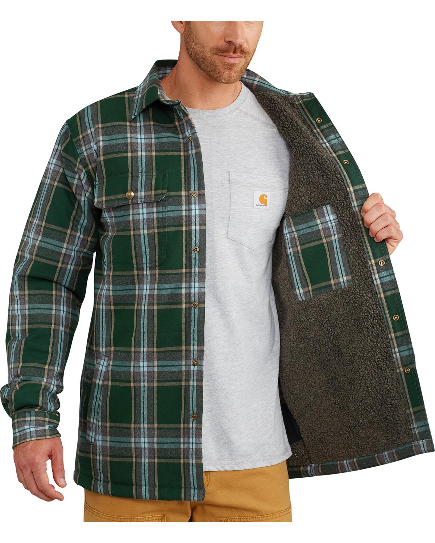 Carhartt Men S Hubbard Sherpa Lined Shirt Jacket Big