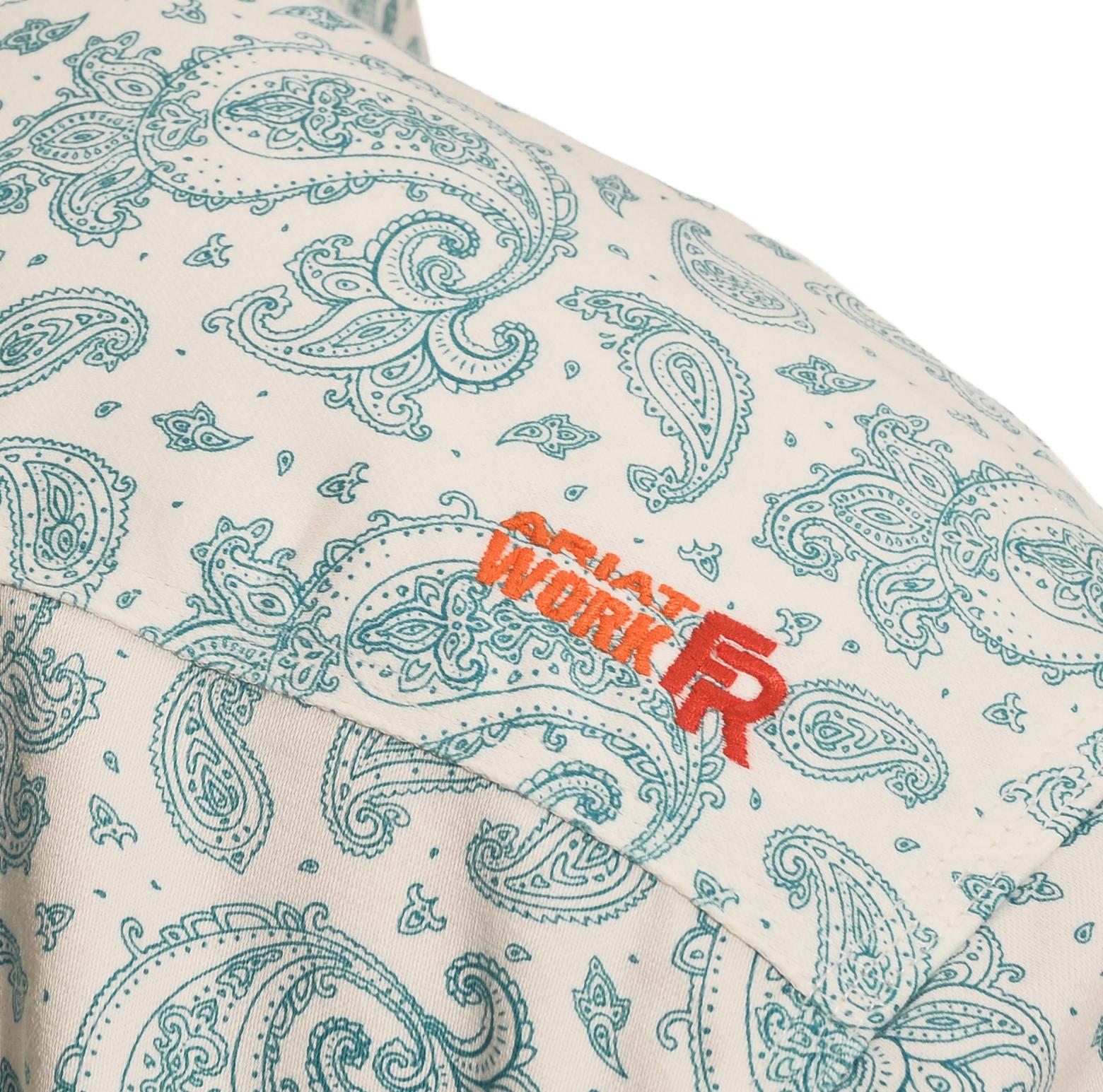 b6045b5482cd Ariat Men s Paisley Crane FR Work Shirt